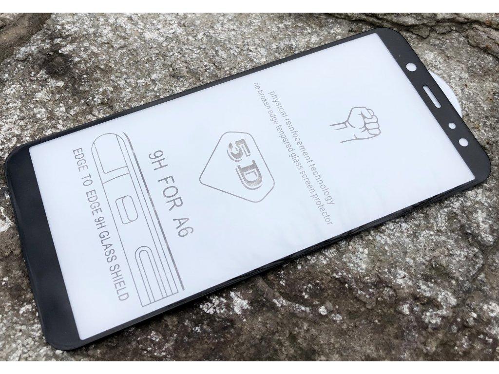 9H / 5D tvrzené sklo pro Samsung Galaxy A600 Galaxy A6 2018 zahnuté, černé 5900495695499