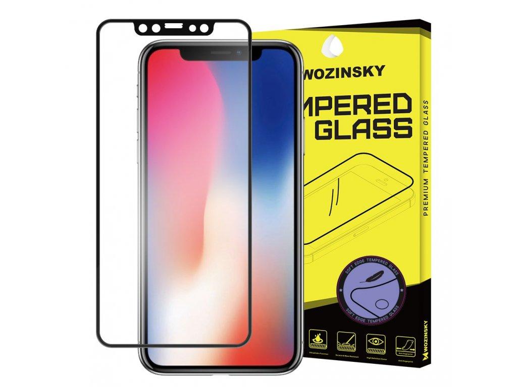 Wozinsky ochranné sklo pro iPhone X / Xs zahnuté černé, soft frame 7426825333537
