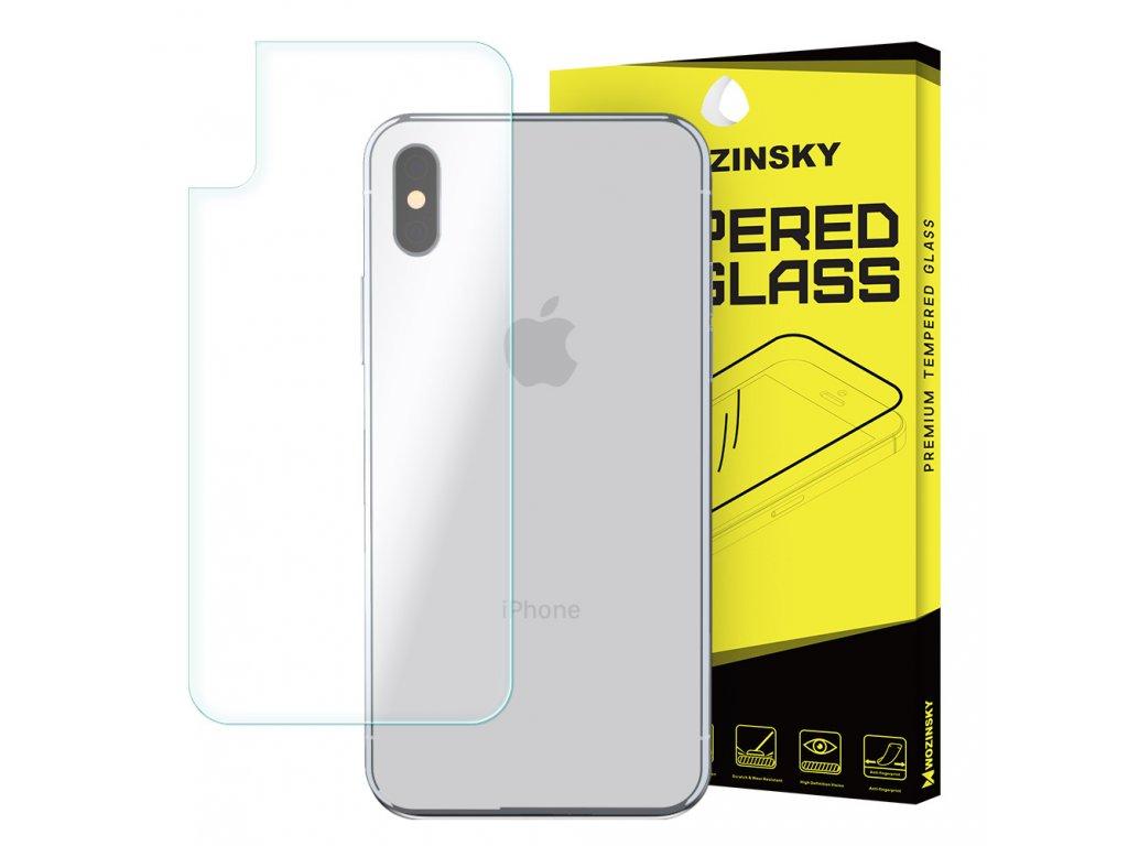 Wozinsky zadní ochranné tvrzené sklo iPhone X, (9H) 7426825338853