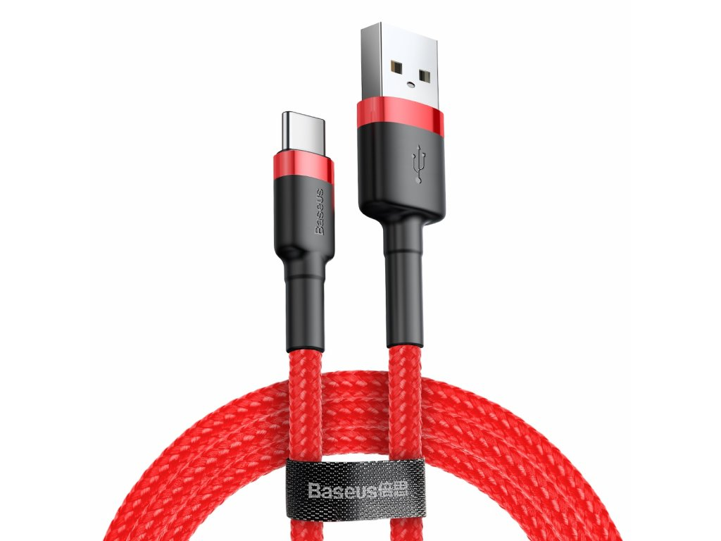 Baseus Cafule USB kabel - USB-C / 0,5m / 3A red CATKLF-A09