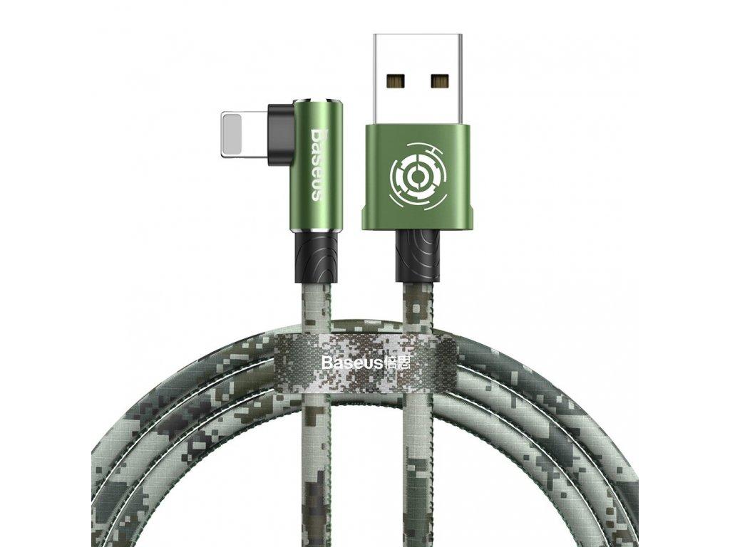 Baseus Camouflage USB kabel - iPhone lightning / 1m / 2,4A green camo CALMC-A06