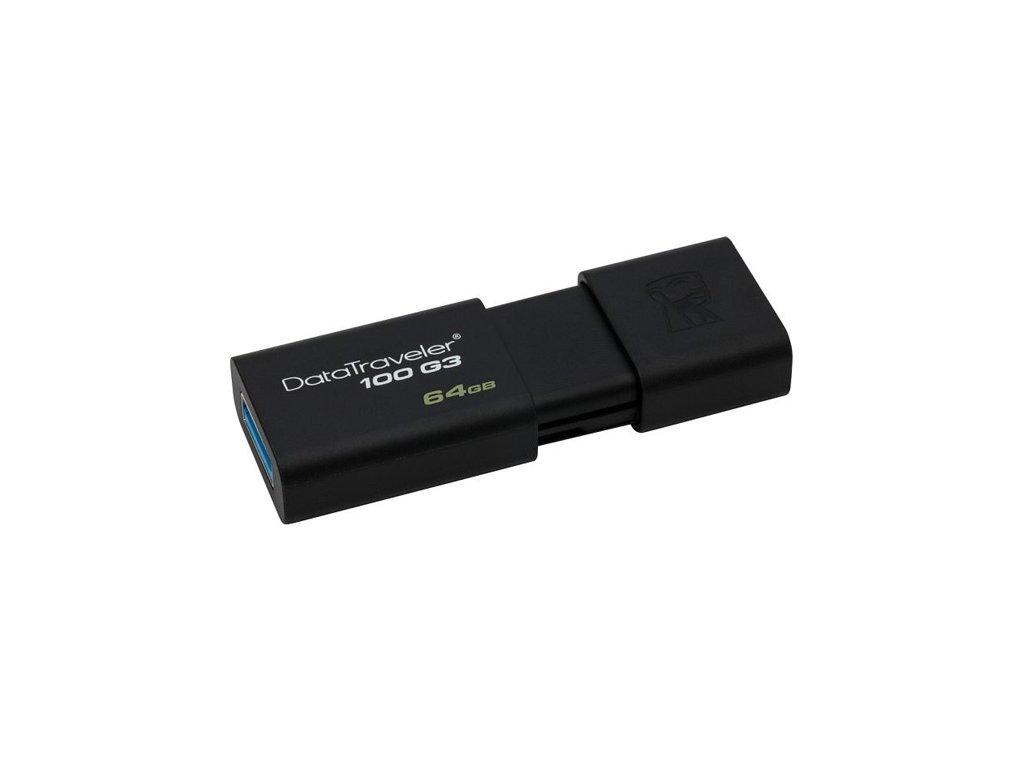Kingston DT100G3 USB Flash disk 64GB černý