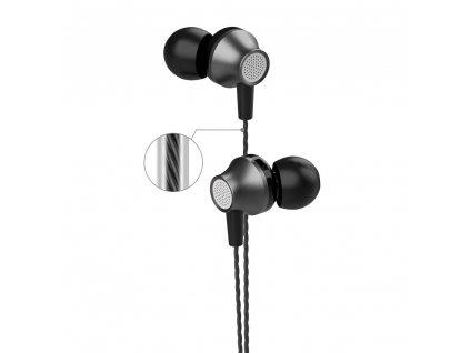 Devia Metal stereo sluchátka s mikrofonem černé