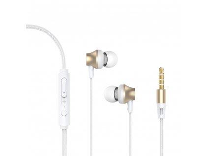 Devia Metal stereo sluchátka s mikrofonem zlaté