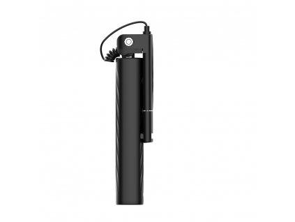 Selfie tyč DEVIA Leisure Apple 8pin Lightning konektor černá