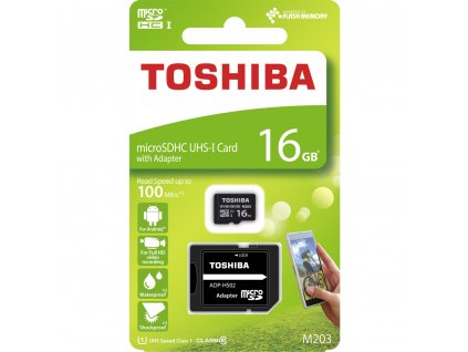 TOSHIBA Micro SDHC 16GB Class 10 / UHS-I / UI + SD adaptér