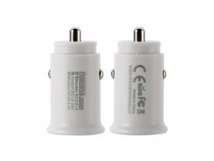 REMAX RCC-219 nabíječka do auta 2 x USB 2,4A bílá