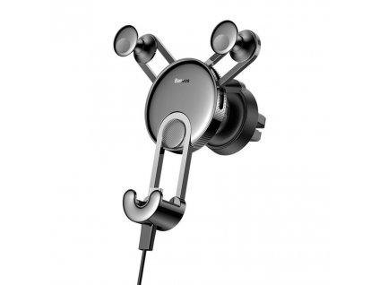 BASEUS YY Gravity držák do mřížky ventilátoru + kabel iPhone lightning - černý SULYY-01