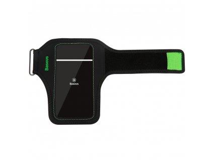 """Baseus Flexible wristband 5,0"""" pouzdro na běhání / na zápěstí, černá / zelená CWYD-A06"""