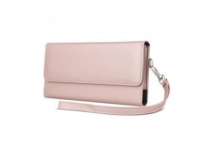Wallet Chic peněženkové pouzdro univerzální 170 x 80mm růžovozlaté