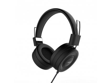 Remax RM-805 handsfree sluchátka iOS / Android - univerzální 3,5mm jack černé