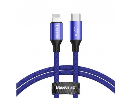 Baseus Yiven USB-C - iPhone lightning / 2m / 2A modrý CATLYW-D03