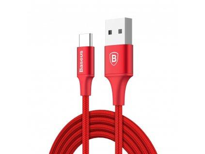 Baseus Rapid USB kabel - USB-C / 2m / 2A / LED červený CATSU-C09