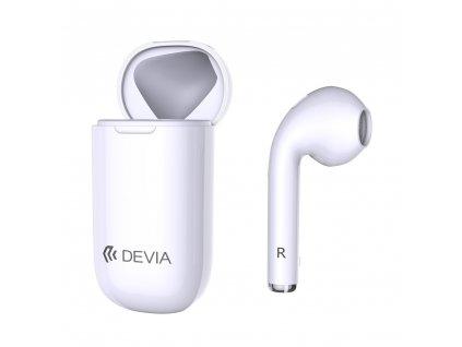 Devia CarPhone BT 5.0 bluetooth sluchátko bílé s pouzdrem