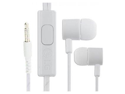 LG EAB64168761 stereo headset sluchátka 3,5mm jack bílé