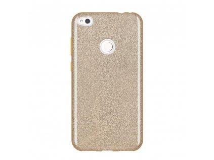 Pouzdro Glitter Case pro Huawei P9 Lite 2017 / Honor 8 Lite / Nova Lite zlaté