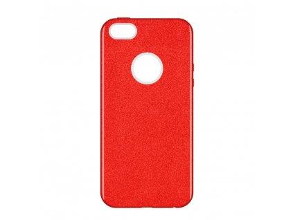 Pouzdro Glitter Case pro iPhone 5 / 5S / SE červené