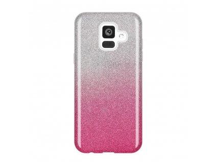 Pouzdro Glitter Case pro Samsung A600 Galaxy A6 2018 růžové
