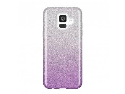 Pouzdro Glitter Case pro Samsung A600 Galaxy A6 2018 fialové