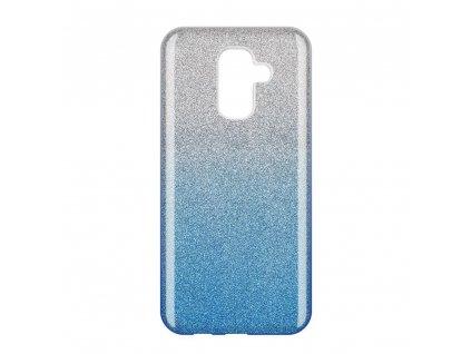 Pouzdro Glitter Case pro Samsung A605 Galaxy A6 Plus 2018 modré
