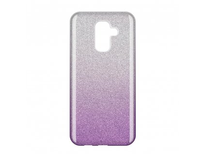 Pouzdro Glitter Case pro Samsung A605 Galaxy A6 Plus 2018 fialové