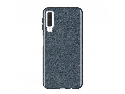 Pouzdro Glitter Case pro Samsung A750 Galaxy A7 2018 černé