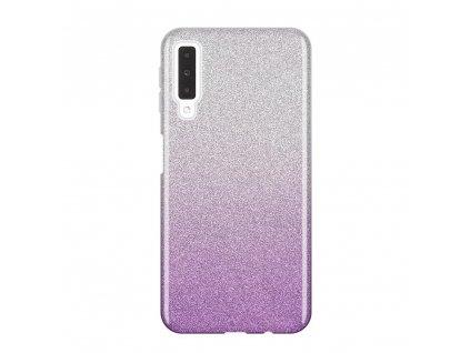 Pouzdro Glitter Case pro Samsung A750 Galaxy A7 2018 fialové