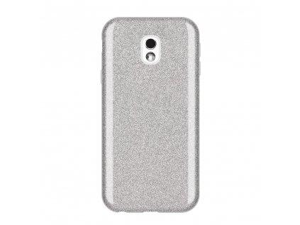 Pouzdro Glitter Case pro Samsung J330 Galaxy J3 2017 stříbrné