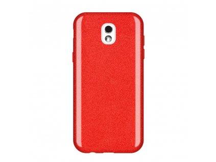Pouzdro Glitter Case pro Samsung J530 Galaxy J5 2017 červené