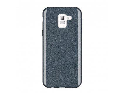Pouzdro Glitter Case pro Samsung J600 Galaxy J6 2018 černé