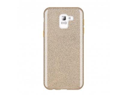 Pouzdro Glitter Case pro Samsung J600 Galaxy J6 2018 zlaté
