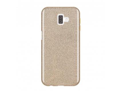 Pouzdro Glitter Case pro Samsung J610 Galaxy J6 Plus 2018 zlaté
