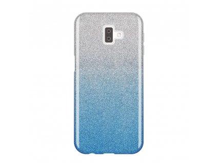 Pouzdro Glitter Case pro Samsung J610 Galaxy J6 Plus 2018 modré