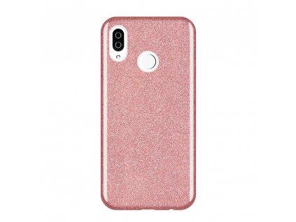 Pouzdro Glitter Case pro Xiaomi RedMi Note 7 světle růžové