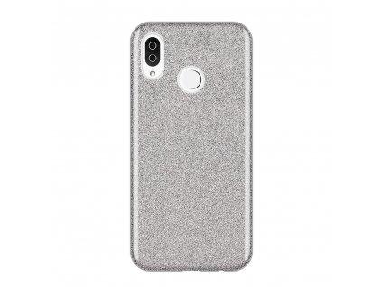 Pouzdro Glitter Case pro Xiaomi RedMi Note 7 stříbrné