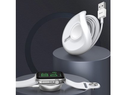 Baseus YOYO bezdrátová nabíječka pro Apple Watch bílá