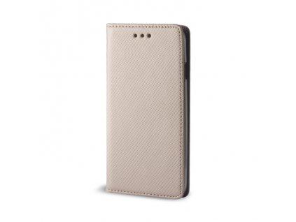 Pouzdro Smart Magnet pro Xiaomi CC9 / Mi A3 Lite zlaté