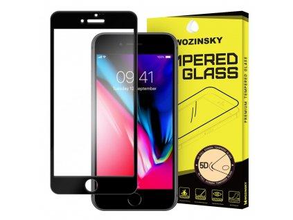 """Wozinsky ochranné tvrzené sklo pro iPhone 7 / 8 (4.7"""") 5D zahnuté černé 7426825338433"""
