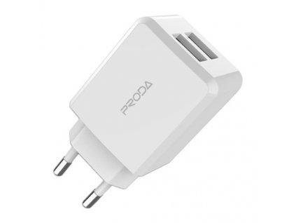 Proda PD-A22 nabíječka 2 x USB (2,1A) bílá