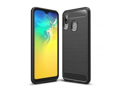 Pouzdro Carbon Case pro Samsung A20e černé