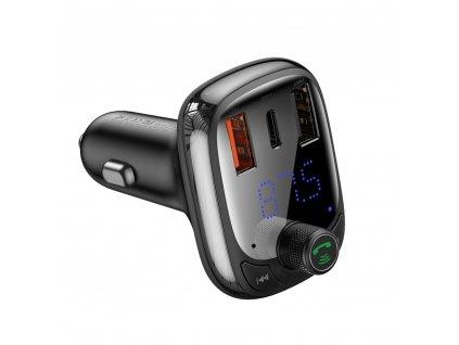 Baseus Bluetooth 5.0 FM transmitter s USB nabíječkou PPS / QC 4.0 / USB-C / micro SD