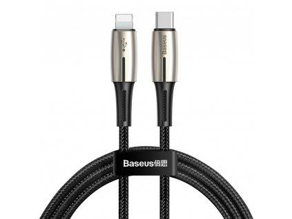 Baseus Drop kabel USB-C PD / Apple Lightning 18W / 1,3m / QC 3.0. black CATLRD-01