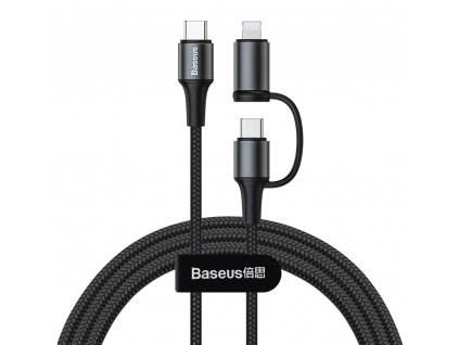 Baseus Twins kabel USB-C PD / Apple Lightning / USB-C black CATLYW-01