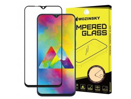 Wozinsky Full Glue tvrzené sklo Samsung M30, zakřivené černé 7426825365866