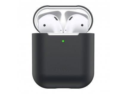 Baseus silikonové pouzdro pro Apple AirPods 1/2 černé WIAPPOD-BZ01