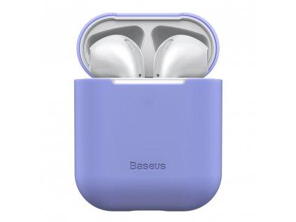 Baseus silikonové pouzdro pro Apple AirPods 1/2 violet WIAPPOD-BZ05