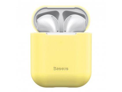 Baseus silikonové pouzdro pro Apple AirPods 1/2 žluté WIAPPOD-BZ0Y