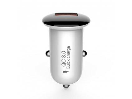 Devia Mushroom Charger, USB nabíječka do auta QC 3.0 / 18W černá