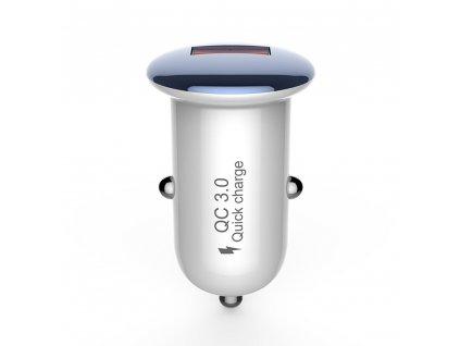 Devia Mushroom Charger, USB nabíječka do auta QC 3.0 / 18W modrá
