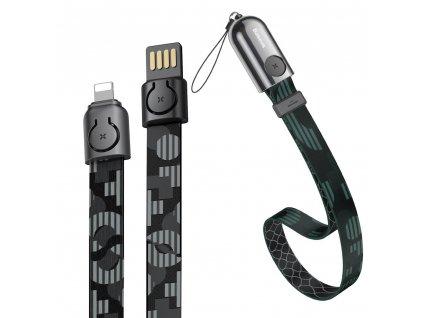 Baseus 2v1 poutko + USB kabel - iPhone Lightning / 0,35m / 2,4A black CALJL-AP1